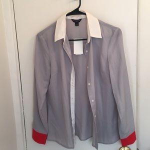 L/S, color block shirt